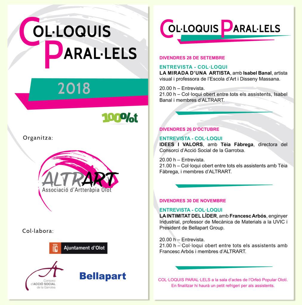 Col.loquis Paral.lels Altrart - Artterapia 2018
