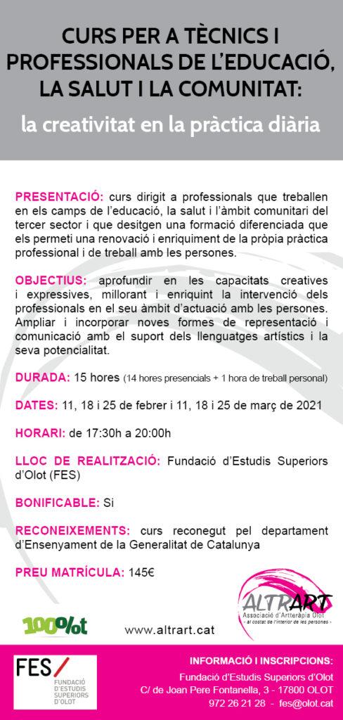Curs professionals Altrart-Artteràpia 2021